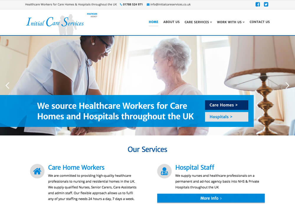 Initial Care Services Website