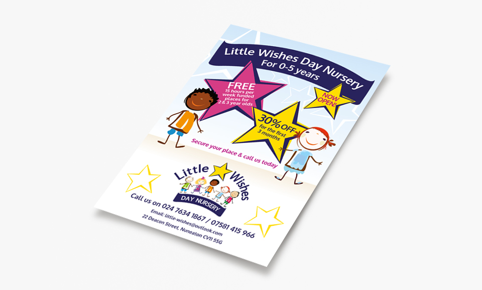 Little Wishes Day Nursery Flyer
