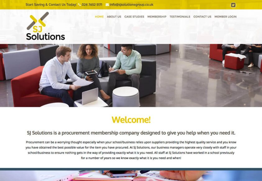Web design coventry for SJ Solutions Website design in coventry