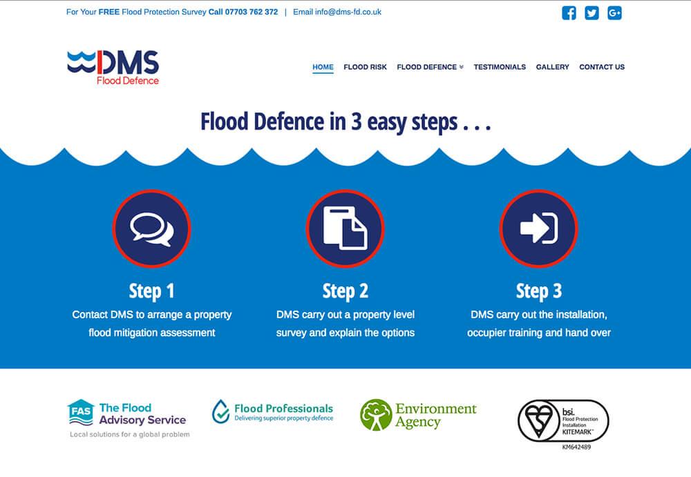 A web design for DMS Flood Defence