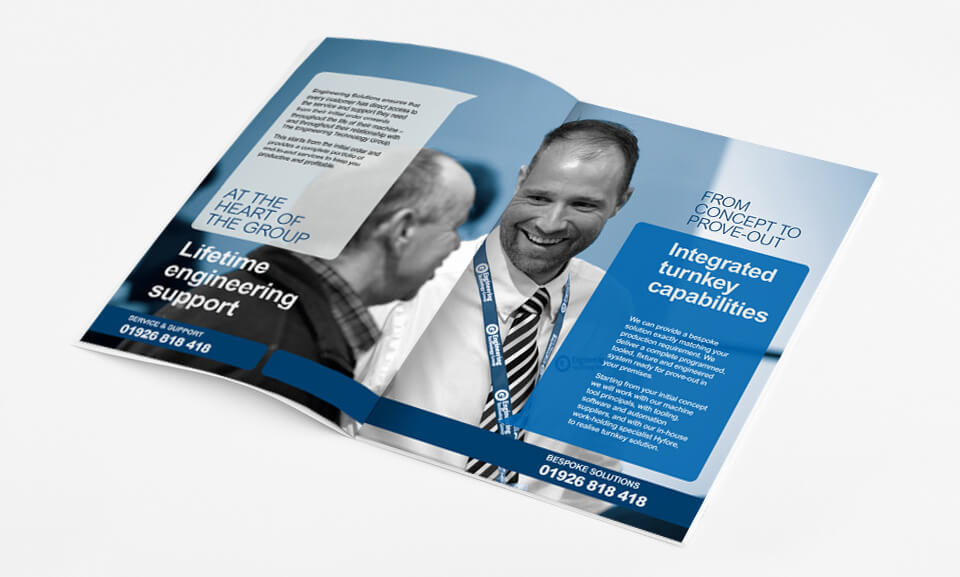 Brochure desig and printing of the ETG Engineering Solutions Brochure