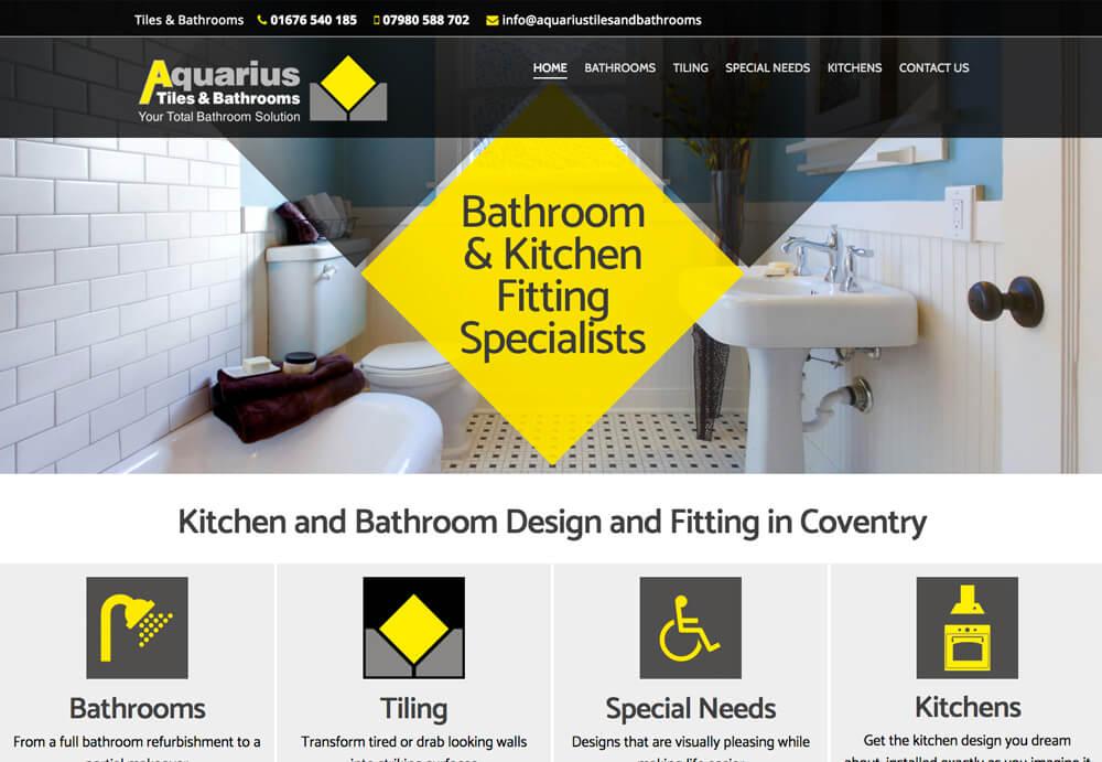 Aquarius Tiles & Bathrooms Website